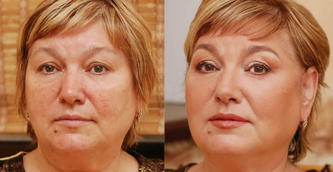 макияж для 60 летней женщины видео