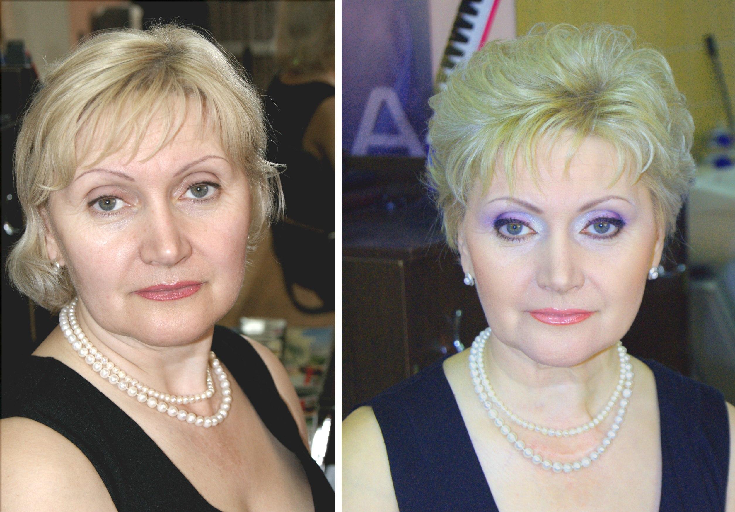 макияж в 60 лет мастер класс