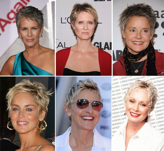 короткие стрижки женские 60 лет
