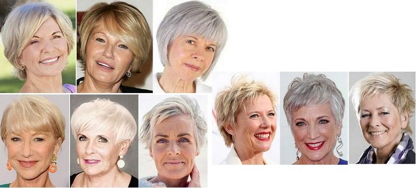 короткие стрижки для женщин после 60