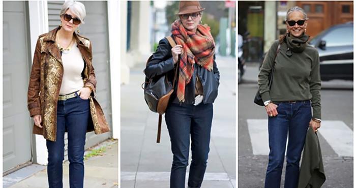 что носить с джинсами женщинам 50 лет