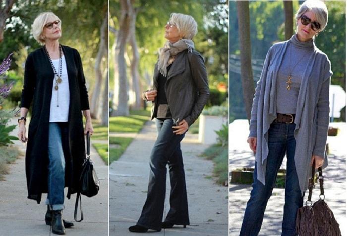 джинсовая одежда для женщин за 50 лет
