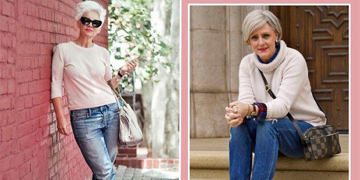 джинсы женщине за 55