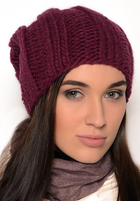 женские шапки для женщин 50 лет спицами