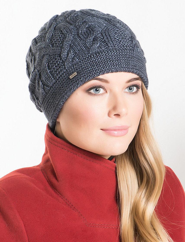 женские шапки спицами для женщин 50 лет