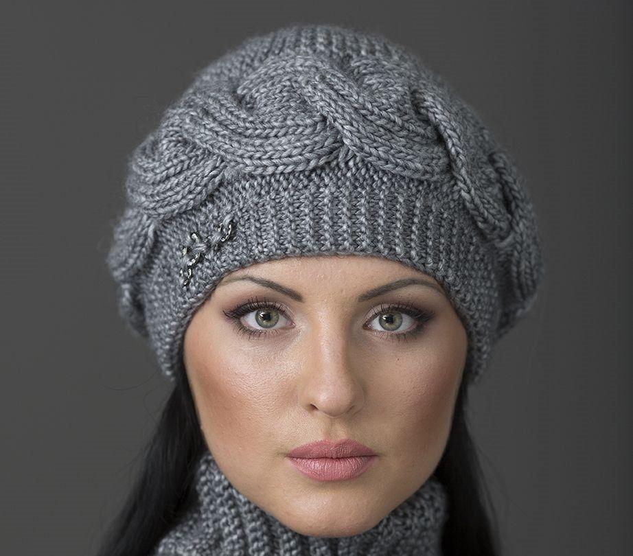 шапки для женщин 60 65 лет вязаные спицами