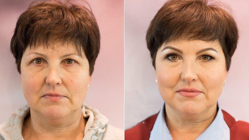 макияж глаз после 55 лет