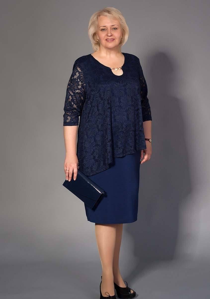151b7ee5c28 Мода 2019 для полных женщин после 50 - 55 лет  фото