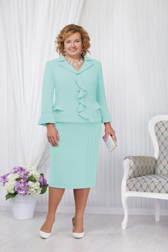 костюм для дамы 60 лет