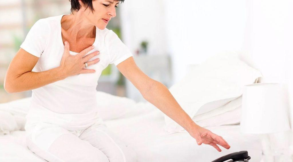 признаки инфаркта у женщины 50 лет