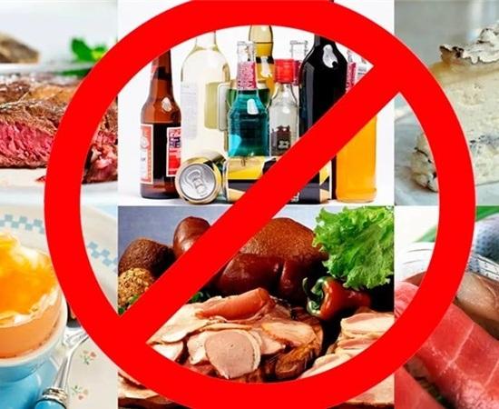 Продукты, которые следует исключить