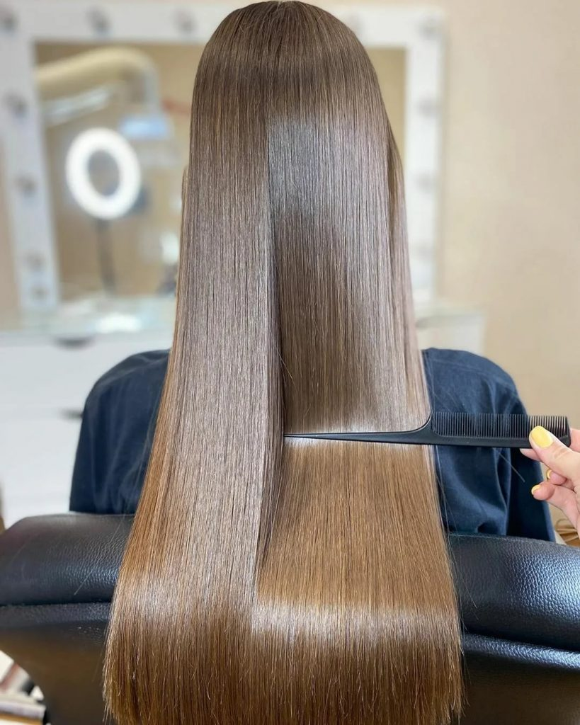 волосы после применения ботокса